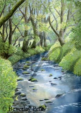 Babbling Brook - Pastel