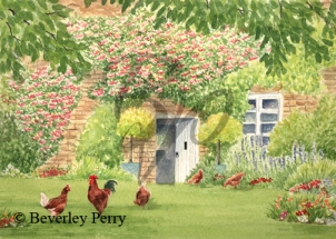 Cottage Life in the Cotswolds - Watercolour