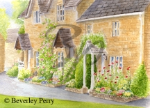 Cottages in Lower Slaughter - Watercolour