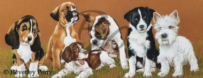 Dog training class - Pastel