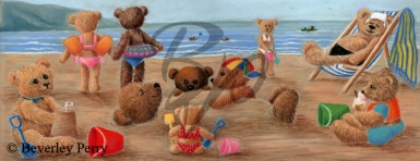 On the Beach - Pastel
