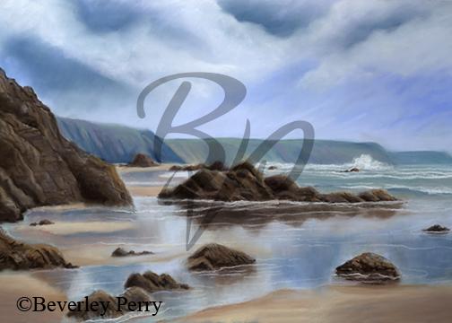 Pembrokeshire coast -Pastel