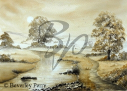 Riverside Mist - Watercolour
