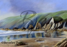 Rugged Coastline - Pastel