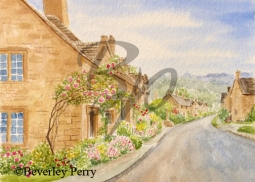 Stanton Village - Watercolour
