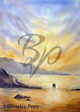 Sunset Embrace - Watercolour