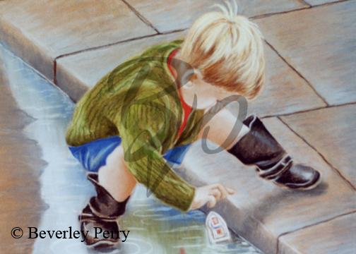 Toy Boat - Pastel