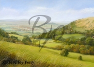View from Crickley Hill - Pastel
