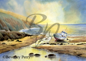 Waiting for the tide - Pastel and Watercolour