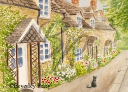 Winchcombe Cottages - Watercolour
