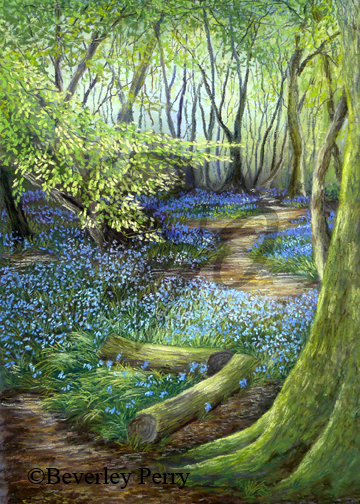 Woodland Clearing - Pastel